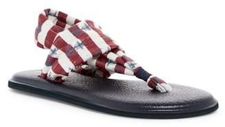 Sanuk Yoga Sling Anchor & Stripe Printed Slingback Sandal
