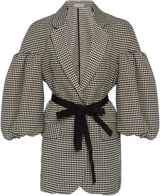 Silvia Tcherassi Benny Puff Sleeve Cotton-Blend Blazer