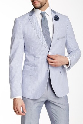 Paisley & Gray Blue Striped Two Button Notch Lapel Cotton Slim Fit Blazer $99.97 thestylecure.com