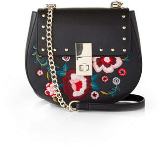 Express floral embroidered crossbody bag