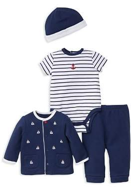 Little Me Boys' Nautical Sweater, Bodysuit, Jogger Pants & Cap Set - Baby