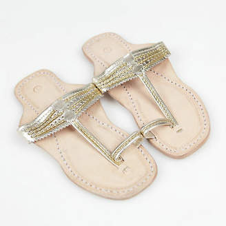 NEW Handmade leather sandals in royal gold Women's by Banjarans Leather Sandals