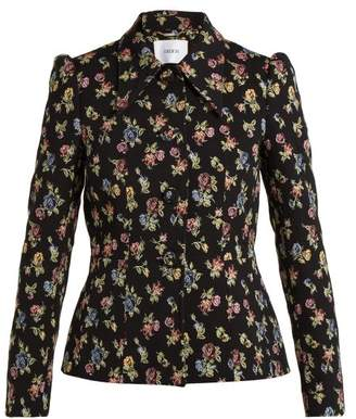 Erdem Garnet Floral Jacquard Jacket - Womens - Black Multi
