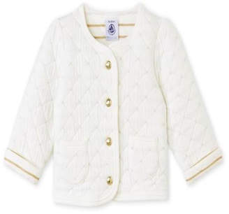 Petit Bateau White Knit Cardigan