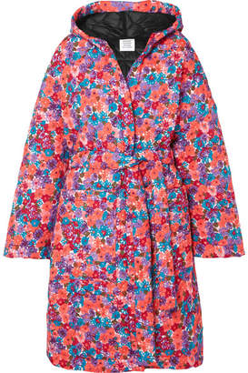 Vetements Oversized Quilted Floral-print Shell Coat - Pink
