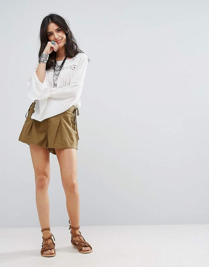 Free People Silver Springs Lace Side Shorts