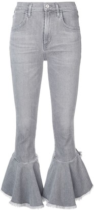 Citizens of Humanity cropped ruffled jeans