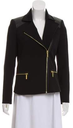 MICHAEL Michael Kors Notched-Lapel Zip-Up Jacket