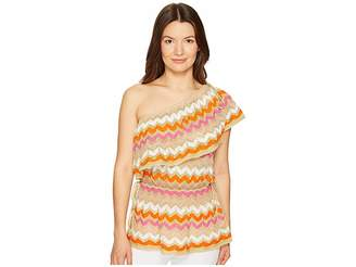 M Missoni Ombre Zigzag Ruffle Top Women's Clothing
