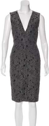 Alice + Olivia Jacquard Sleeveless Dress