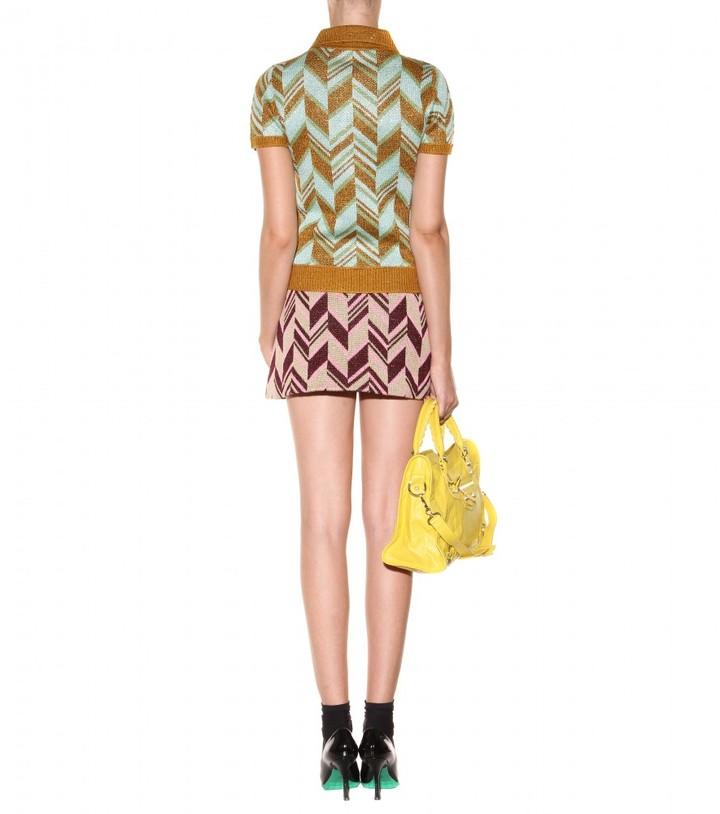 Miu Miu Wool-blend knitted top
