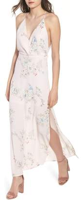 --- Surplice Maxi Dress