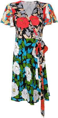 Diane von Furstenberg floral wrap front dress