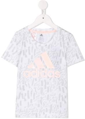 adidas Kids logo print T-shirt