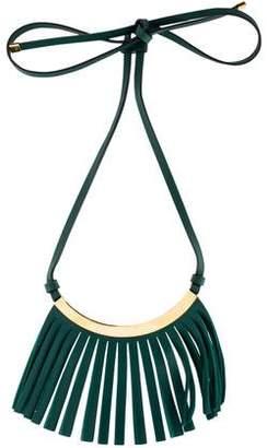 Marni Leather Fringe Collar Necklace