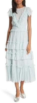 Rebecca Taylor Metallic Clip Dress