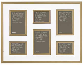 John Lewis & Partners Clover Multi-aperture Photo Frame, 6 Photo, Bronze