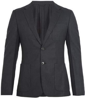 Prada Single-breasted flannel-wool blazer