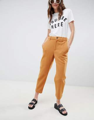 Asos (エイソス) - ASOS DESIGN peg pants in felted textured fabric