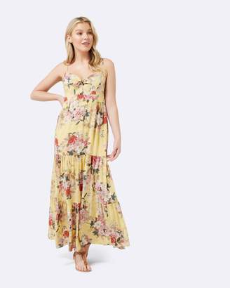 Forever New Petite Jessica Printed Tiered Maxi Dress