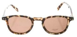 Celine Tortoiseshell Keyhole Sunglasses