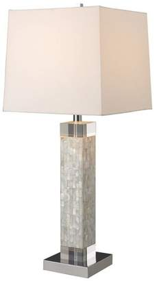 Mother of Pearl Dimond Lighting 31 Luzerne Table Lamp, Chrome