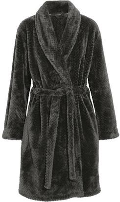 Calvin Klein Underwear - Harmony Velour Robe - Black $70 thestylecure.com