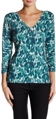Laundry By Shelli Segal Winter Shadow Printed V-Neck Sweater $34.97 thestylecure.com