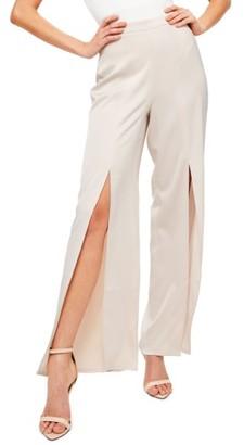 Women's Missguided Split Front Trousers $58 thestylecure.com