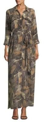 L'Agence Cameron Palm Print Dress