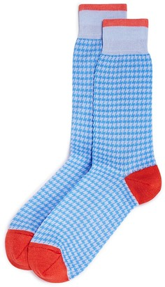 The Men's Store at Bloomingdale's Cotton Blend Houndstooth Check Socks - 100% Exclusive $12 thestylecure.com