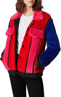 Blank NYC BLANKNYC Multicolor Faux Fur Jacket