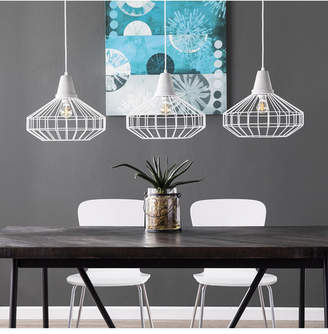 Southern Enterprises Starling Cage Pendant Lamp 3 Piece Set