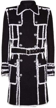 Balmain Tweed Trench Coat