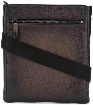 Salvatore Ferragamo textured leather messenger bag
