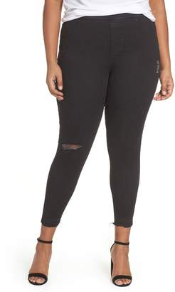 Spanx R) Distressed Skinny Denim Leggings