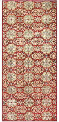 Olinda One-of-a-Kind Hand-Knotted Runner Rug, 4.1' x 11.4'
