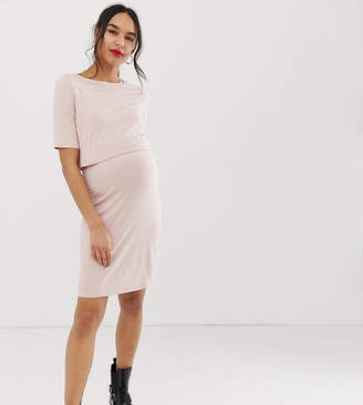New Look Maternity nursing dress in nude