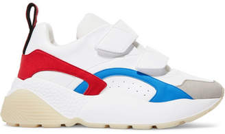 Stella McCartney Eclypse Faux Leather, Faux Suede And Neoprene Sneakers - White