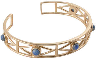 Artsmith BY BARSE By Barse Womens 1 1/2 CT. T.W. Blue Cuff Bracelet Bronze