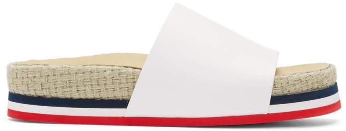 Moncler White Evelyne Slides