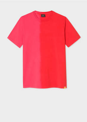 Paul Smith Men's Coral And Red Tie-Dye Effect T-Shirt