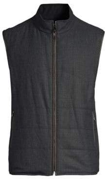 Corneliani Wool-Suede Reversible Vest