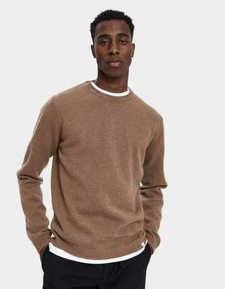 Norse Projects Sigfred Lambswool Sweater in Camel