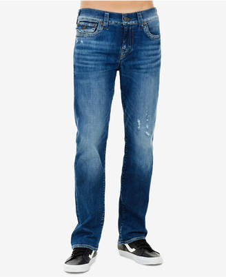 True Religion Men's Ricky Slim-Straight Fit Stretch Destroyed Jeans