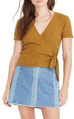 Madewell Texture & Thread Wrap Top
