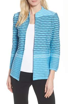 Ming Wang Jacquard Knit Jacket