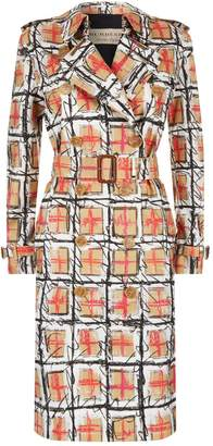 Burberry Scribble Check Trench Coat