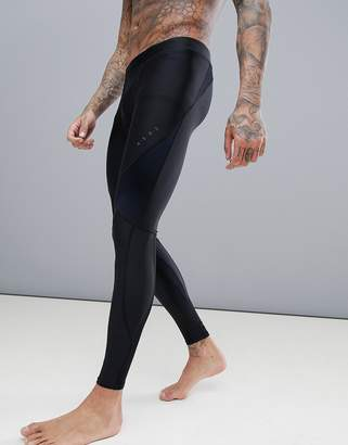 Asos 4505 4505 Compression Running Tights With Cut & Sew In Black