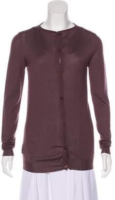 Marni Cashmere Button-Up Cardigan mauve Cashmere Button-Up Cardigan